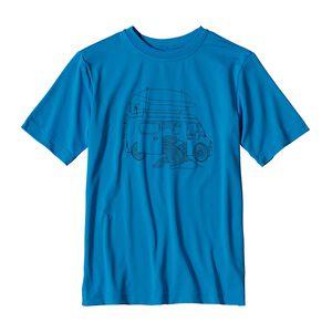 ボーイズ・キャプリーン・シルクウェイト・グラフィック・ティー, Andes Blue (ANDB)