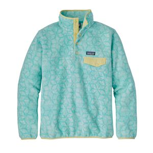 W's Lightweight Synchilla® Snap-T® Fleece Pullover, Batik Hex Big: Bend Blue (BKBE)