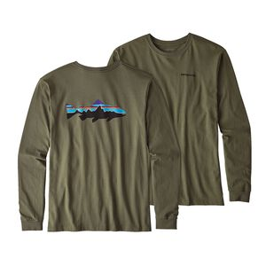 M's Long-Sleeved Fitz Roy Trout Organic Cotton T-Shirt, Industrial Green (INDG)