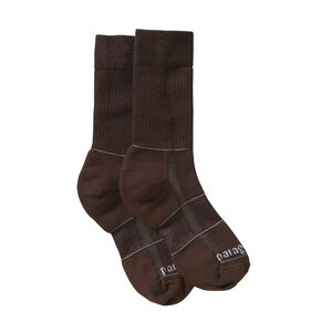 Midweight Merino Hiking Crew Socks, Java Brown (JVBR)
