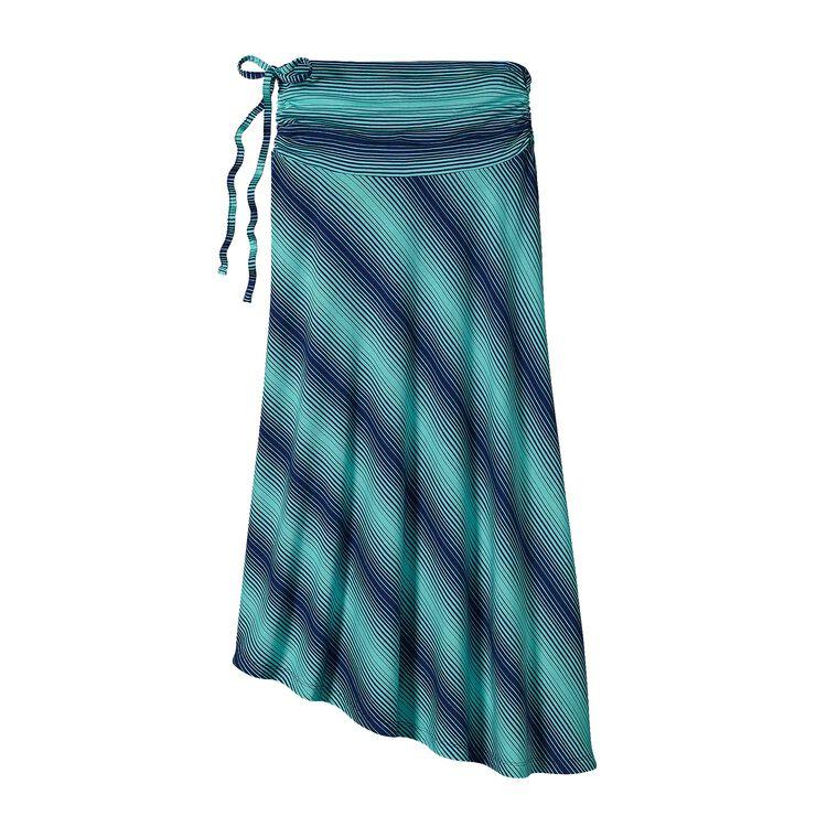 W'S KAMALA SKIRT, Reflection Stripe: Howling Turquoise (RHTQ)