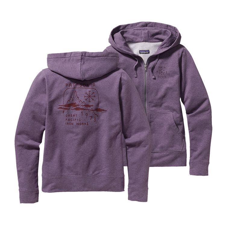 W'S SNOW BELT MW FULL-ZIP HOODED SWEATSH, Rustic Purple (RSTP)