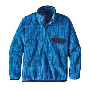 M's Lightweight Synchilla® Snap-T® Pullover - European Fit, Tribal Geo Big: Radar Blue (TRDB)