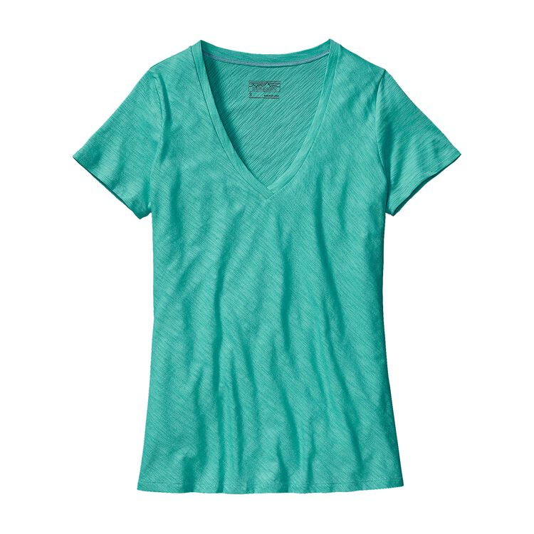 W'S NECESSITY V-NECK, Howling Turquoise (HWLT)