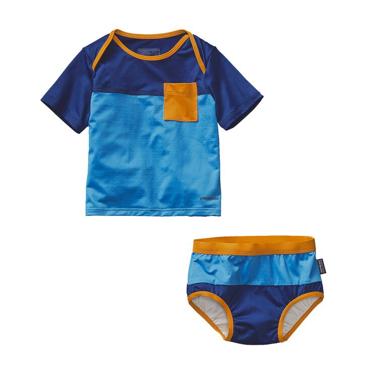 INFANT LITTLE SOL SWIM SET, Electron Blue (ECTB)