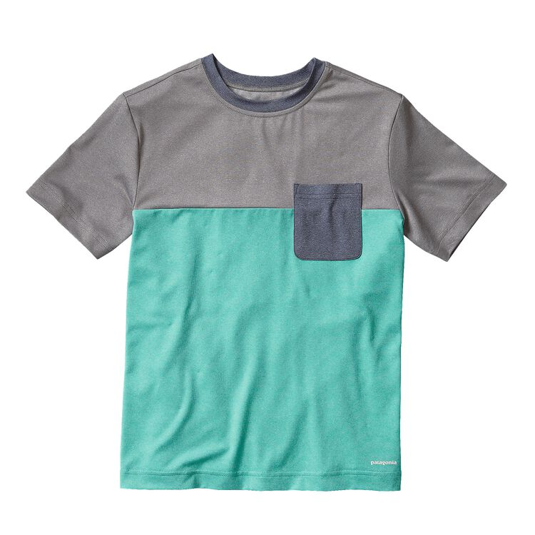 BOYS' CAP DAILY COLORBLOCK TEE, Howling Turquoise (HWLT)