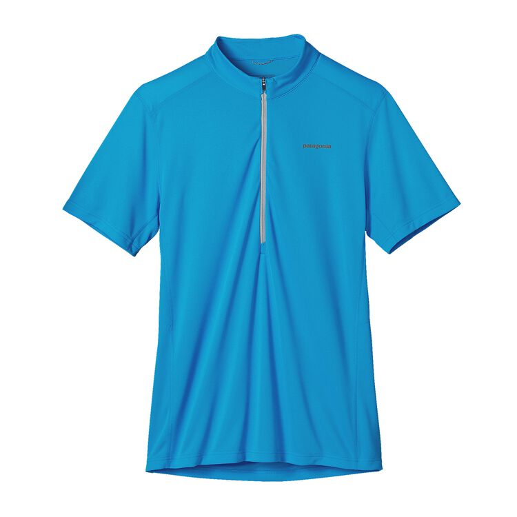 M'S S/S FORE RUNNER ZIP NECK, Electron Blue (ECTB)