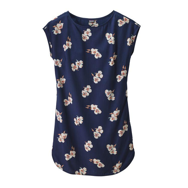 W'S JUNE LAKE DRESS, Mariposa Lily: Classic Navy (MALC)