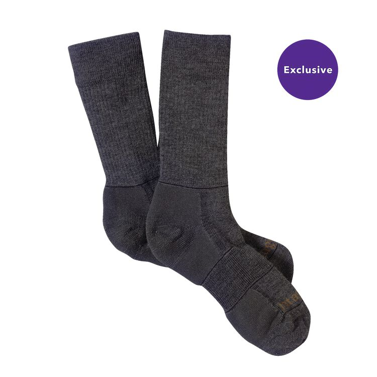 MW MERINO HIKING CREW SOCKS, Forge Grey (FGE-961)