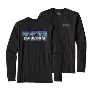 M'S L/S P-6 LOGO COTTON T-SHIRT, Black (BLK)