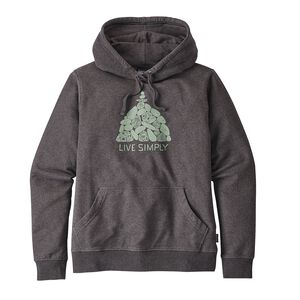 W's Live Simply® Summit Stones Midweight Hoody, Black (BLK)