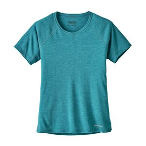W's Short-Sleeved Nine Trails Shirt, Elwha Blue (ELWB)