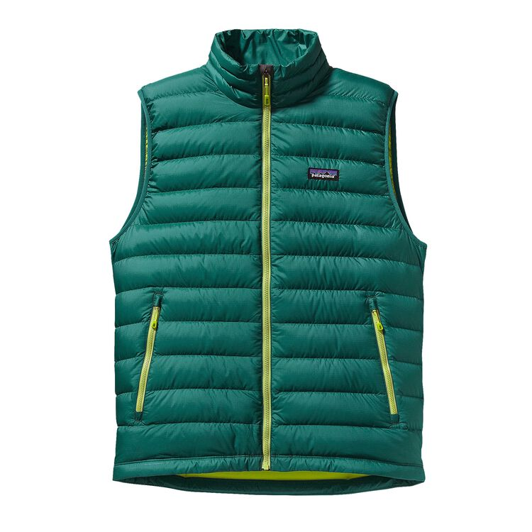 M'S DOWN SWEATER VEST, Arbor Green (ABRG)