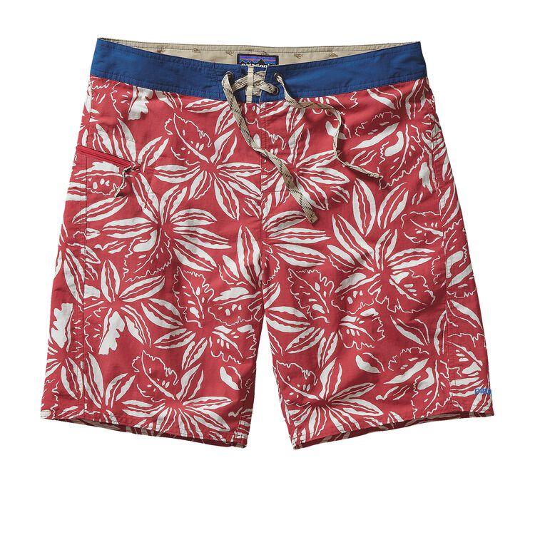 M'S PRINTED WAVEFARER BOARD SHORTS - 19, Tropical: Raspen Red (TRRR)