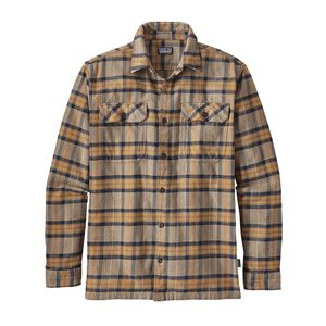 M's Long-Sleeved Fjord Flannel Shirt, Migration Plaid: Mojave Khaki (MMJV)