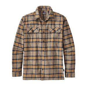 M's Long-Sleeved Fjord Flannel Shirt, Migration Plaid: Mojave Khaki (MMJV)