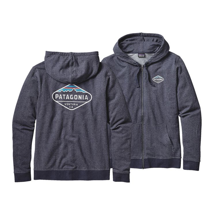 M'S FITZ ROY CREST LW FULL-ZIP HOODED SW, Navy Blue (NVYB)