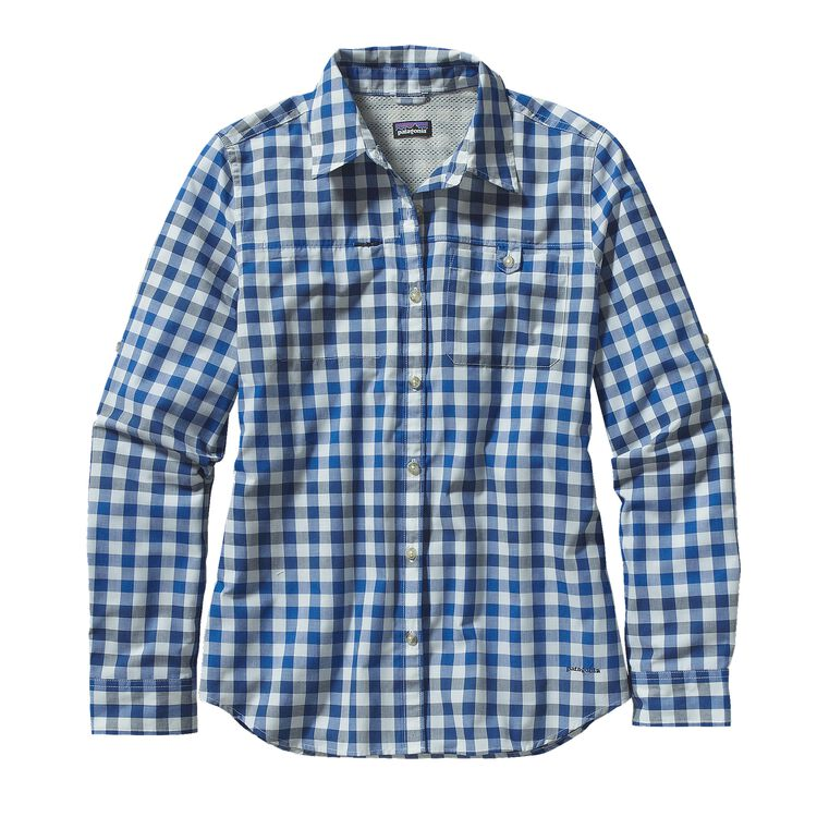 W'S L/S ISLAND HOPPER II SHIRT, Single Malt: Navy Blue (SMNB)