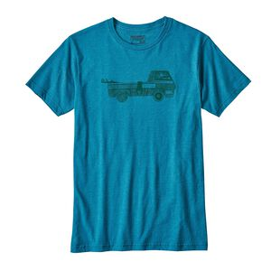 M's Pickup Lines Organic Cotton/Poly T-Shirt, Filter Blue (FLTB)