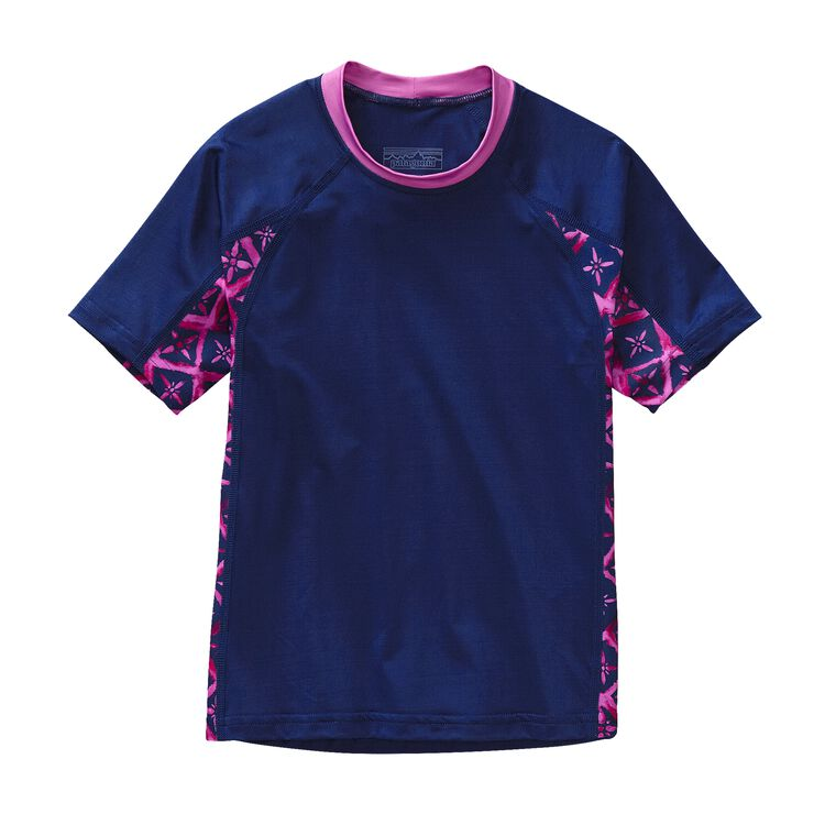 GIRLS' RASHGUARD, Channel Blue (CHB)