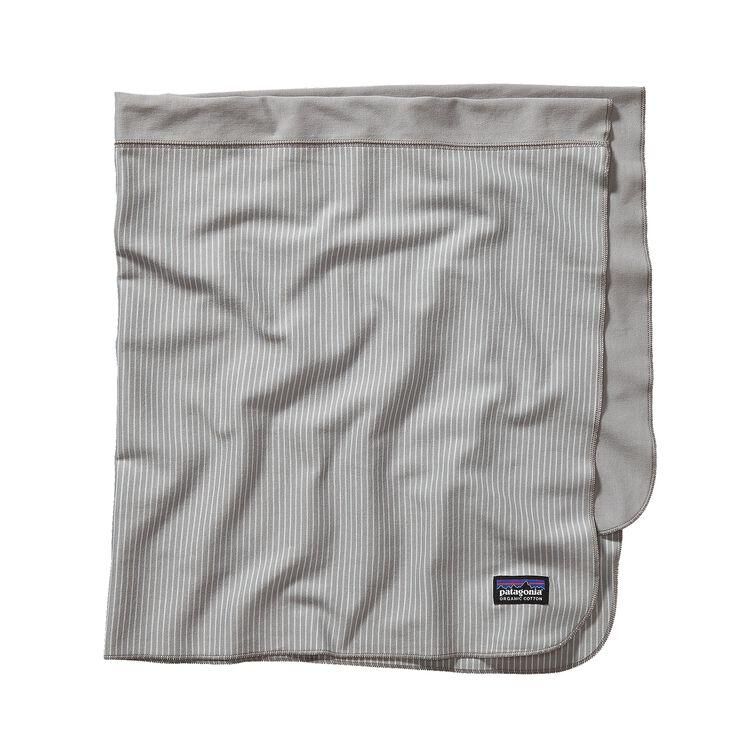 BABY COZY COTTON BLANKET, Itsy Bitsy Stripe: Drifter Grey (IBDG)