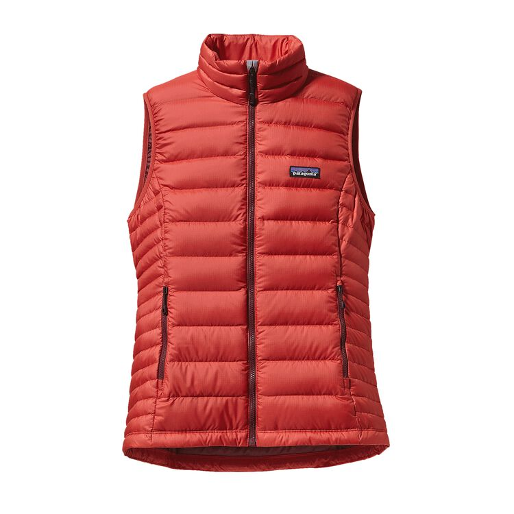 W'S DOWN SWEATER VEST, Sumac Red (SUMR)