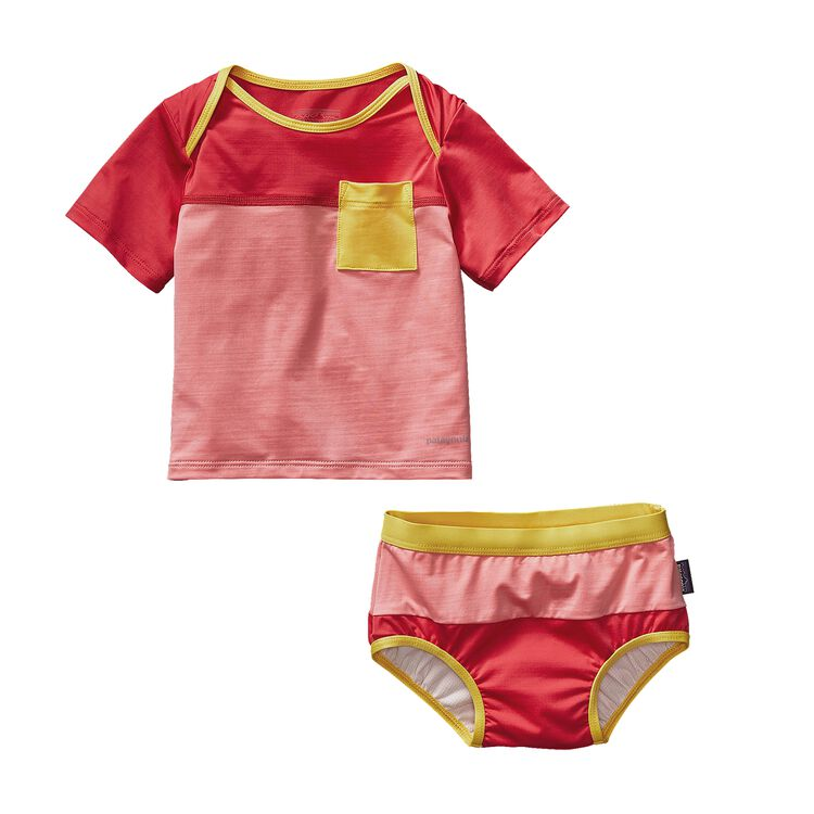 INFANT LITTLE SOL SWIM SET, Pickled Pink (PCKP)