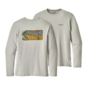 M's Graphic Tech Fish Tee, Eye of Brown: Tailored Grey (EOBT)