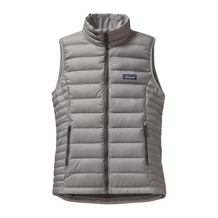 W'S DOWN SWEATER VEST, Feather Grey (FEA)