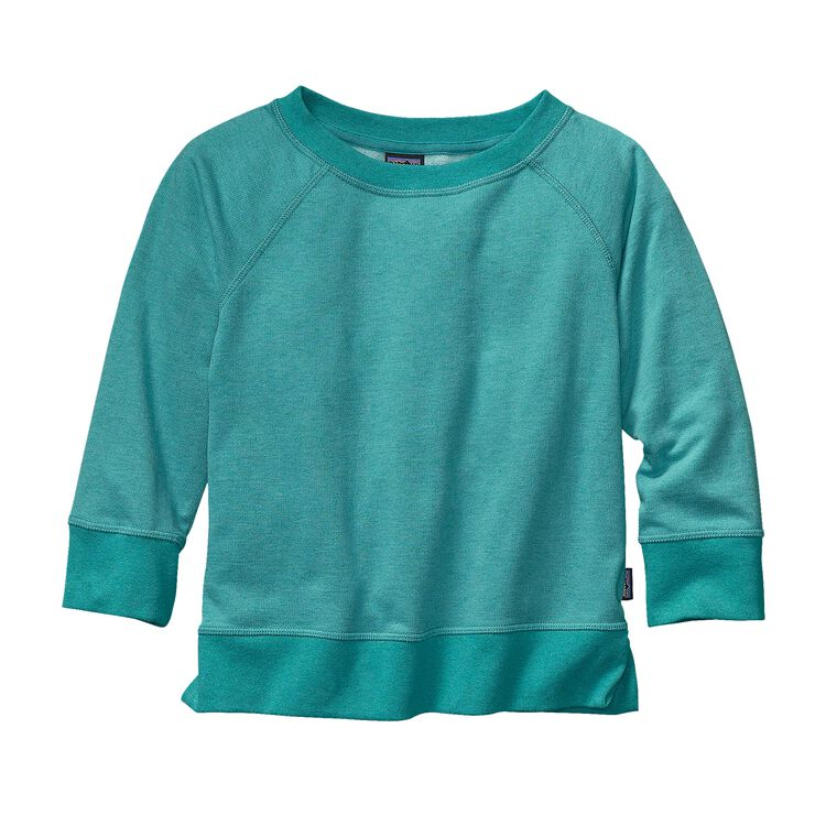 GIRLS' LW FLEECE CREW, Howling Turquoise (HWLT)