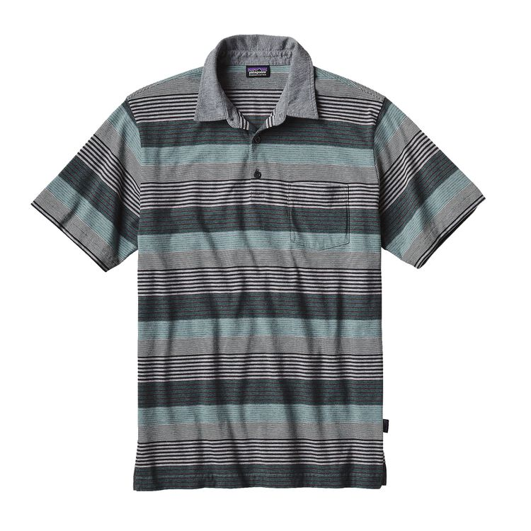 M'S SQUEAKY CLEAN POLO, Stripe of Stripes Small: Feather Grey (SSSF)