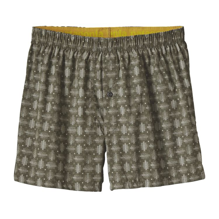 M'S GO-TO BOXERS, Pine Needle Weave Small: Industrial Green (PNSI)