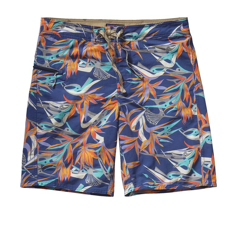 M'S PRINTED WAVEFARER BOARD SHORTS - 19, Piton Paradise: Channel Blue (PPCB)
