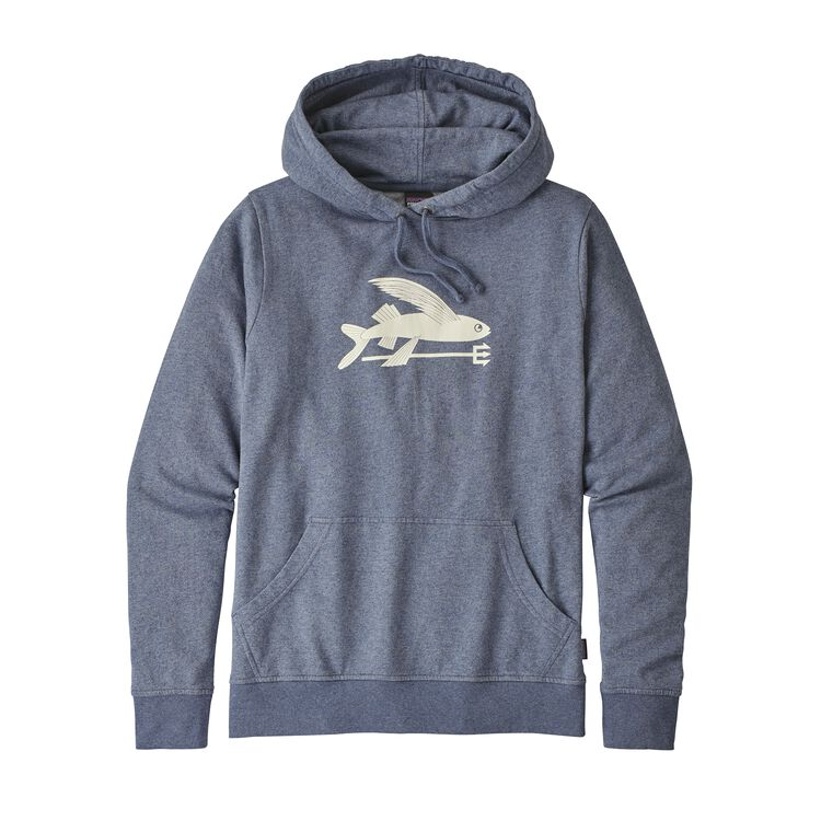 W'S FLYING FISH LW HOODY, Dolomite Blue (DLMB)