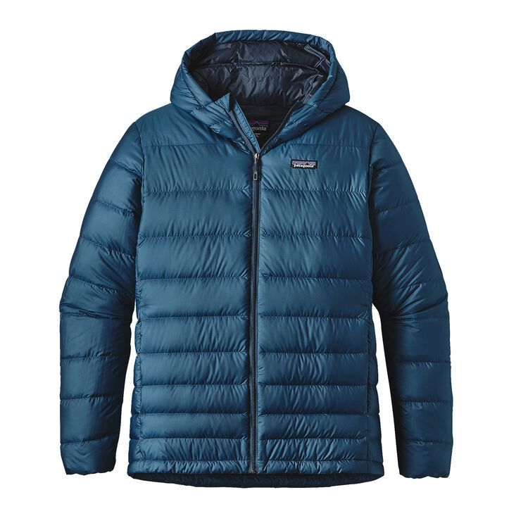 M'S HI-LOFT DOWN HOODY, Glass Blue (GLSB)