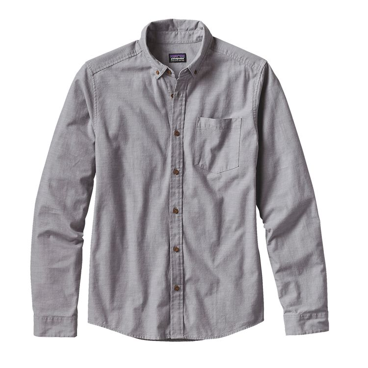 M'S L/S BLUFFSIDE SHIRT, Chambray: Feather Grey (CHFG)