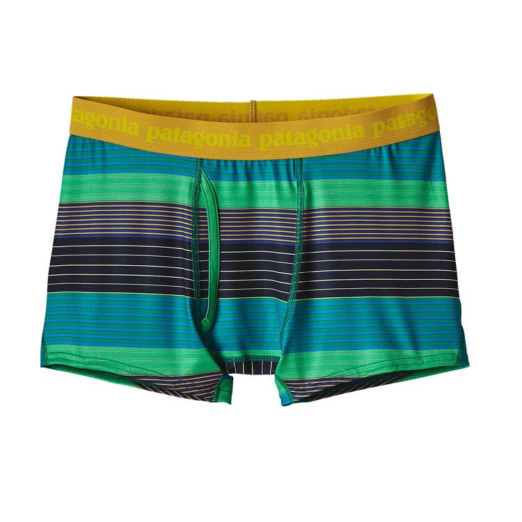 M'S CAP DAILY BOXER BRIEFS, Stripe of Stripes Small: Impact Green (SSSI)