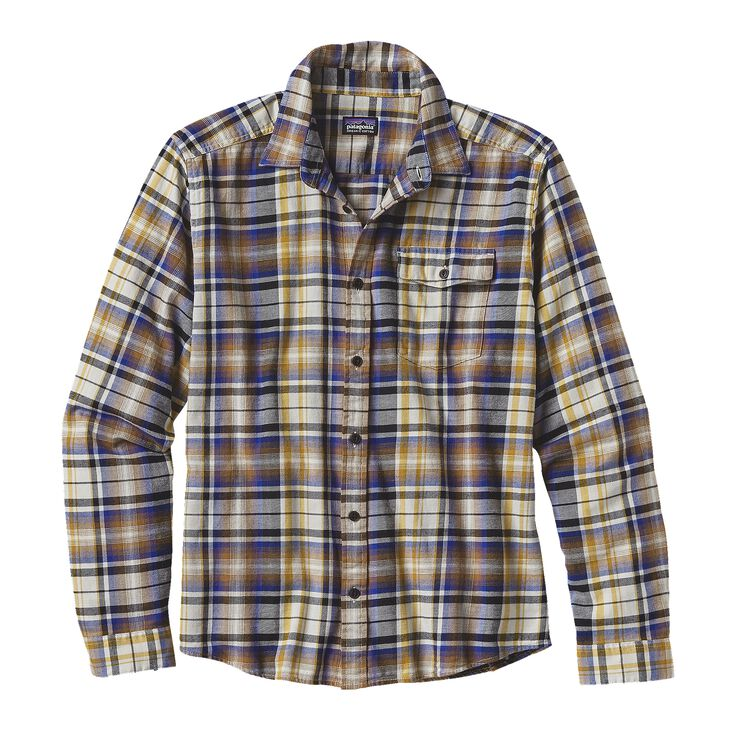 M'S L/S LW FJORD FLANNEL SHIRT, Rootsy: Toasted White (ROTW)