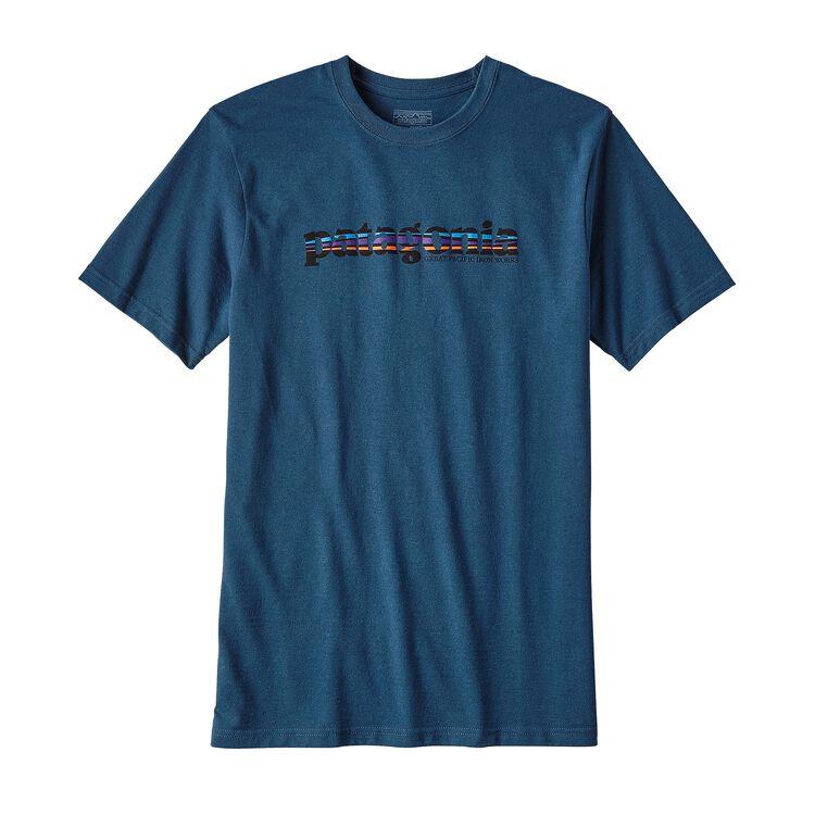 メンズ・'73 テキスト・ロゴ・コットン/ポリ・レスポンシビリティー, Glass Blue (GLSB)