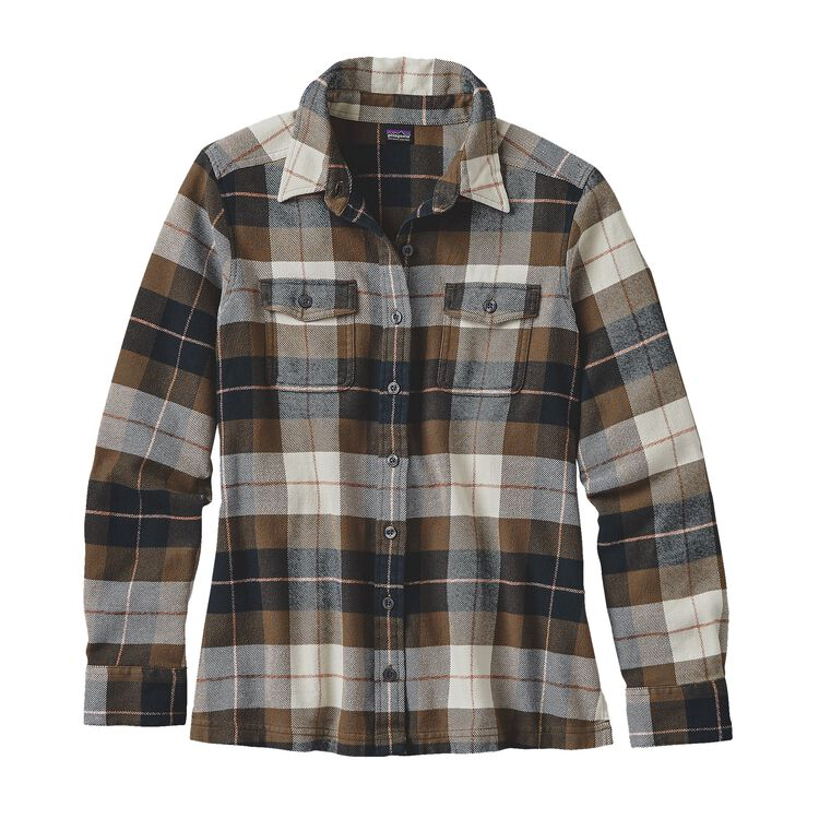 W'S L/S FJORD FLANNEL SHIRT, Tree Crown: Carbon (TCCA)