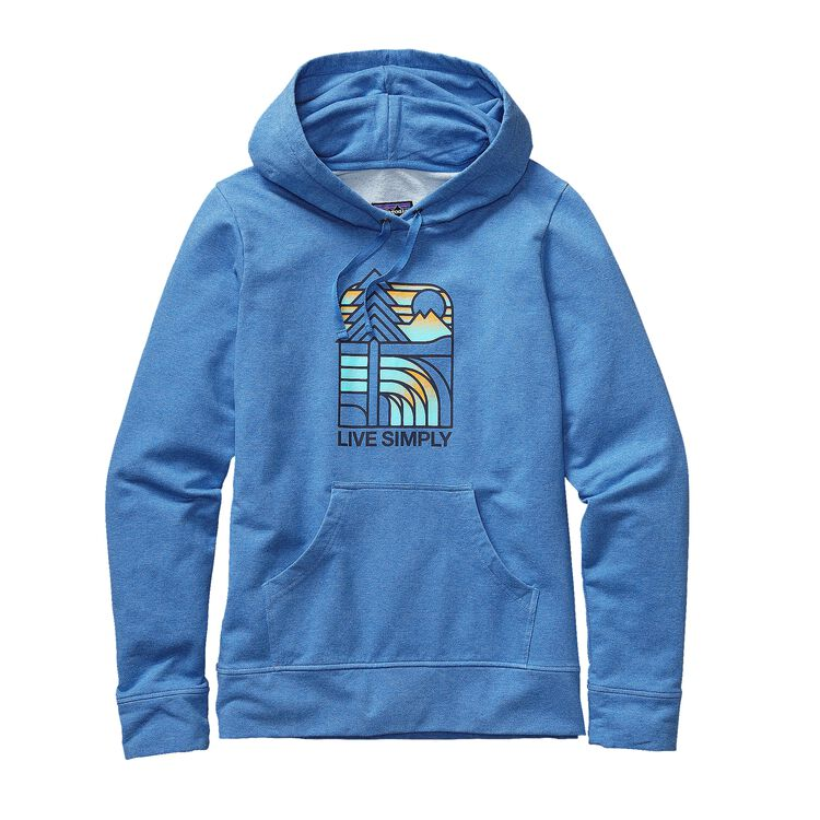 W'S LIVE SIMPLY LANDSCAPE MW P/O HOODED, Andes Blue (ANDB)