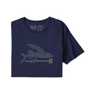M's Flying Fish Organic Cotton T-Shirt, Classic Navy (CNY)