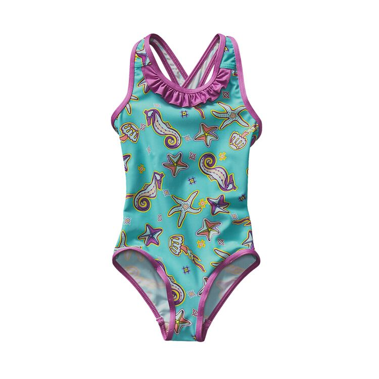 BABY QT SWIMSUIT, Dream Tides: Howling Turquoise (DTHT)