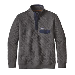 M'S COTTON QUILT SNAP-T P/O, Forge Grey (FGE)