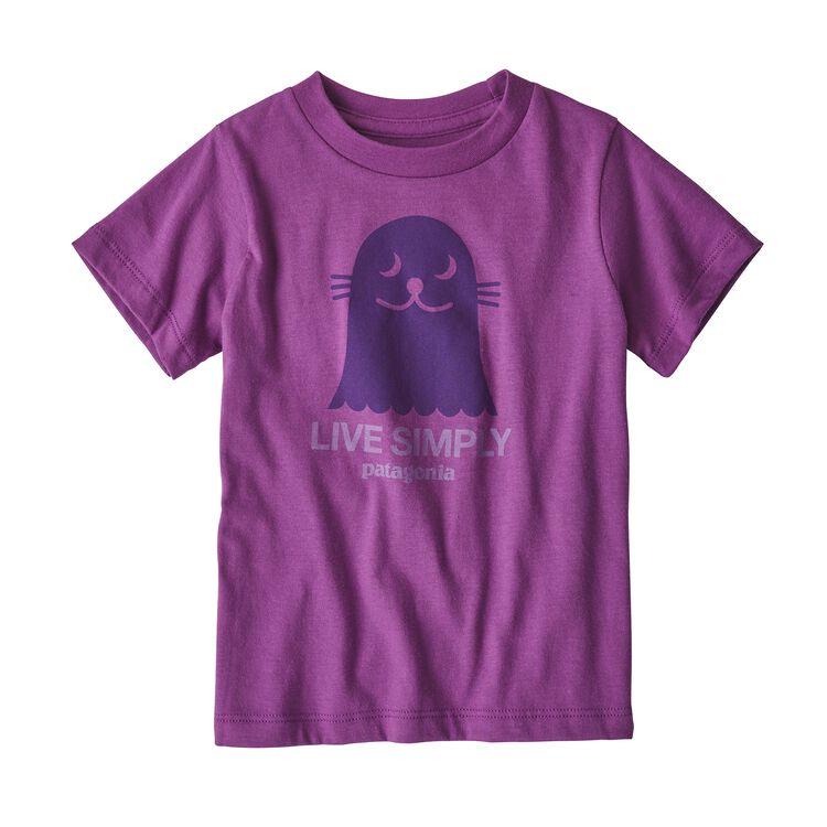 BABY LIVE SIMPLY ORGANIC T-SHIRT, Ikat Purple (IKP)