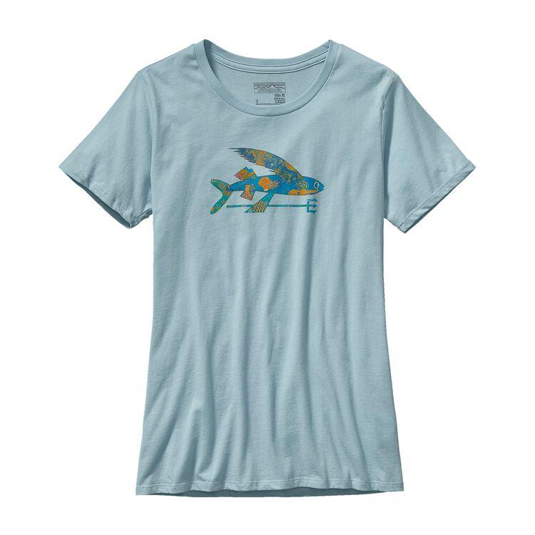 W'S ISLE WILD FLYING FISH COTTON CREW T-, Tubular Blue (TUBL)
