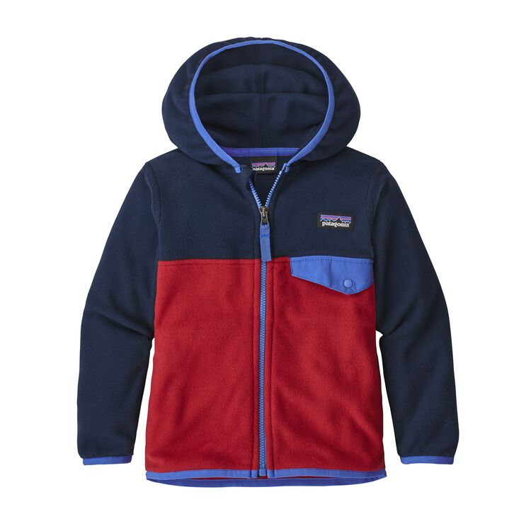 BABY MICRO D SNAP-T JKT, Classic Red w/Navy Blue (CRNV)