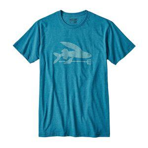 メンズ・フライング・フィッシュ・コットン/ポリ・Tシャツ, Filter Blue (FLTB)