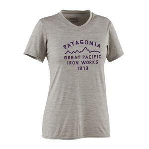ウィメンズ・キャプリーン・デイリー・グラフィック・Tシャツ, Arched Type '73: Drifter Grey Heather (ATDG)