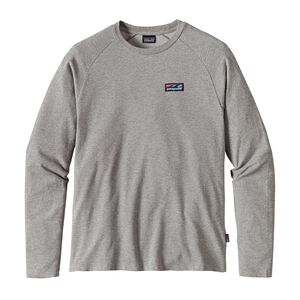 M's Board Short Label Lightweight Crew Sweatshirt, Feather Grey (FEA)